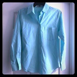 Beautiful Aquamarine Button-Down Shirt